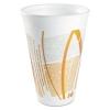 DART Impulse® Hot/Cold Foam Drinking Cups - 16 Oz, White/orange/gray, 1000/Ctn