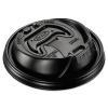 DART Optima® Reclosable Lids For Foam Hot Cups - Fits 12-24 oz Foam Cups, Black, 1000/Ctn