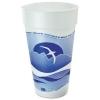 DART Horizon® Hot/Cold Foam Drinking Cups - 20 oz., Printed, Blueberry/white, 25/Bag, 20/Ctn
