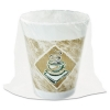 DART Café G® Foam Hot/Cold Cups - 8 Oz., White/brown w/ Green Accents