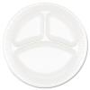 DART Concorde® Non-Laminated Foam Dinnerware - 3-Comp,White, 125/PK, 4 PK/Ctn