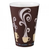 DART Thermoguard Insulated Paper Hot Cups - 16 Oz, Steam Print, 600/Ctn
