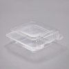 """DART StayLock® Clear Hinged Lid Containers - 8.6"""" W X 9"""" L X 3"""" H, Clear, 200/Ctn"""
