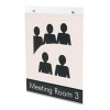 "Deflecto Classic Image® Single-Sided Wall Sign Holder -  8.5 "" X 11""-Portrait"