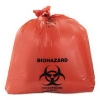 FLEXSOL Biohazard/Infectious Waste Hospital Liners - 33 Gal, Red
