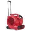 Sanitaire Sanitaire® DRY TIME™ Air Mover - w/ Wheels & Handle, 1281 CFM, Red, 20 FT CORD