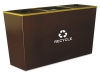 Metro Collection™ Recycling Receptacle - 54 Gal, Brown