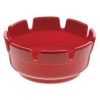 Red Plastic Ashtray - 4""