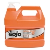 GOJO Natural ORANGE™ Pumice H& Cleaner with Pump Dispenser - Orange Citrus, 1 gal