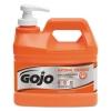 GOJO Natural ORANGE™ Pumice H& Cleaner with Pump Dispenser - Orange Citrus Scent, .5 gal, 4/ct