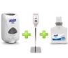 GOJO Sanitizer Station (1 Gray Stand + 1 Touch free Dispenser + 1 Foam Refill) - Gojo Purell