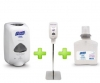 GOJO Sanitizer Station (1 Gray Stand + 1 Touch free Dispenser + 1 Gel Refill) - Gojo Purell