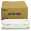 "HOFFMASTER Fluted 8"" Hot Dog Tray - 3,000 Trays"