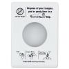 HOSPECO Scensibles Personal Disposal Bag Dispenser - Plastic, White