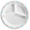"HUHTAMAKI Classic White™ Premium Strength Molded Fiber Plates  - 9.25"", 3-Comp."