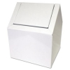 IMPACT Sanitary Napkin Metal Square Floor Receptacle - White