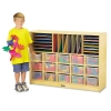 Sectional Mobile Cubbie - No Trays, Birch