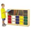 Jonti-Craft Sectional Mobile Cubbie - No Trays, Birch