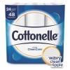 Kimberly-Clark® Cottonelle® Ultra CleanCare Toilet Paper - 1PLY, 170 SHT/RL, 24 RL/PK, 2 PK/CT