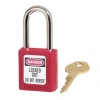 "RUBBERMAID Lightweight Zenex™ Safety Lockout Padlock - 1 1/2"" Wide, Red"