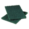 3M Scotch-Brite™ PROFESSIONAL Heavy-Duty Scouring Pad - Dark Green, 6/PK, 10 PK/Carton