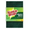 3M Scotch-Brite® Heavy-Duty Scouring Pad - Green, 3/PK, 10 Packs/Carton