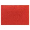 "3M Red Buffer Floor Pads - 28"" X 14"", Red, 10/Carton"