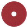 "3M Red Buffer Floor Pads - 20"" Diameter, 10/Carton"