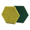 "3M Scotch-Brite™ Dual Purpose Scour Pad - 5"" X 5"", GRAY/YELLOW, 15/Carton"