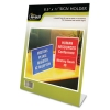 Nu-Dell Clear Plastic Sign Holders, Stand-Up - Slanted