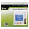 Nu-Dell Clear Plastic Sign Holders, Horizontal Wall - Landscape Wall