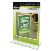 Nu-Dell Clear Plastic Sign Holders, Vertical Wall - Stand-Up