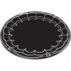 PACTIV Plastic CateWare TRAY 12IN  Round Black - 50/CS