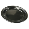 "PACTIV Medium Black Laminate Foam Dinnerware - 6""  Dia. Plates"