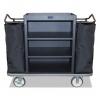 Housekeeping Cart - 500 Lbs. Capacity, Black