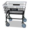 Wire Laundry Cart - 200 Lbs. Capacity, Black
