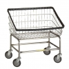 R&B Wire Large Capacity Front Load Laundry Cart - 3.75 Bushel