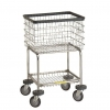 R&B Wire Deluxe Elevated Laundry Cart - 3.5 Bushel