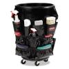 RUBBERMAID Commercial Brute® Caddy Bag - 12 Pockets, Black, 6/Carton