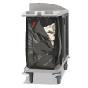 RUBBERMAID Commercial ZippeRed Vinyl Cleaning Cart Bag - 25 Gal, Brown