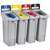 RUBBERMAID Commercial Slim Jim Recycling Station Kit - 92 GAL