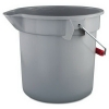 RUBBERMAID Commercial Brute® Round Bucket 2614-GRAY - 14 Qt, Gray