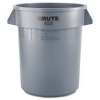 RUBBERMAID Commercial Brute® Round Container 2620-GRAY - 20 Qt, Gray