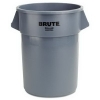 RUBBERMAID Commercial Brute® Round Container 2655-GRAY - 55 Qt, Gray