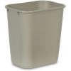 RUBBERMAID Deskside Plastic Wastebaskets - Beige / 8.1-Quart