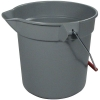 RUBBERMAID Brute® Plastic Buckets - Gray
