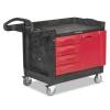RUBBERMAID Commercial TradeMaster® Cart - 750-Lb Cap, One-Shelf, Black
