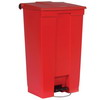 RUBBERMAID 23-Gallon Mobile Container - Red