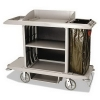 RUBBERMAID Commercial Housekeeping Cart - Platinum