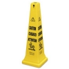 """RUBBERMAID Multi-Lingual """"Caution, Safety Cone - """"Wet Floor"""" Imprint"""